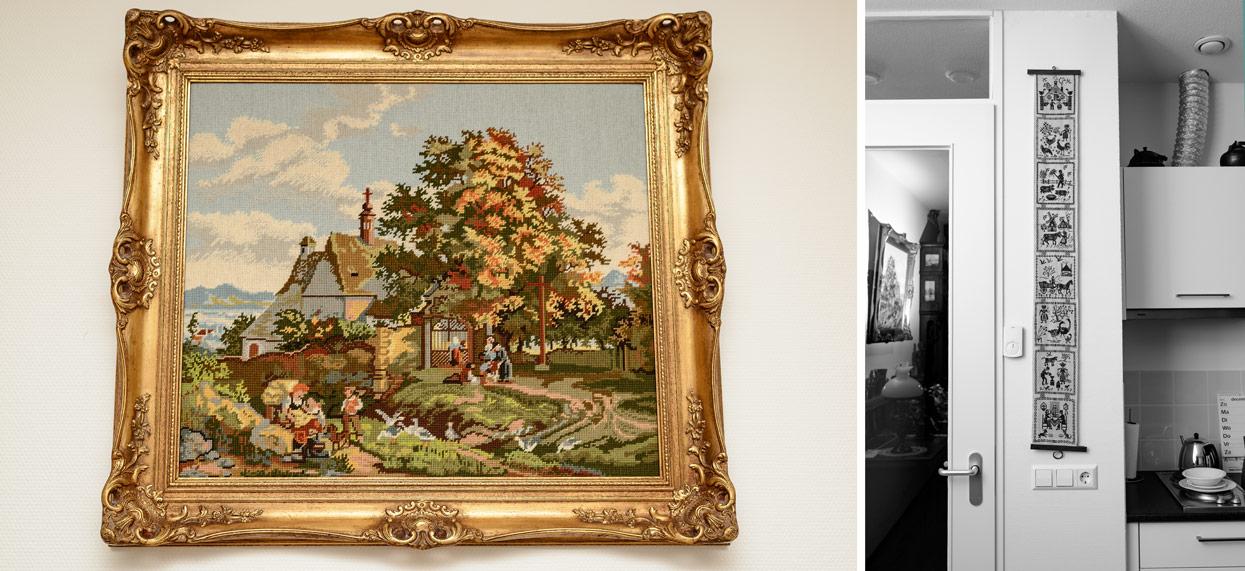 Details van het huis van een oude dame