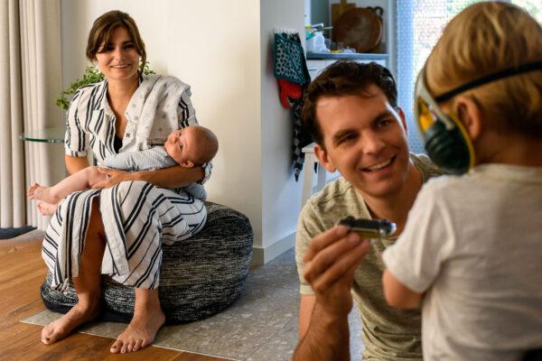 newborn fotografie in gezin